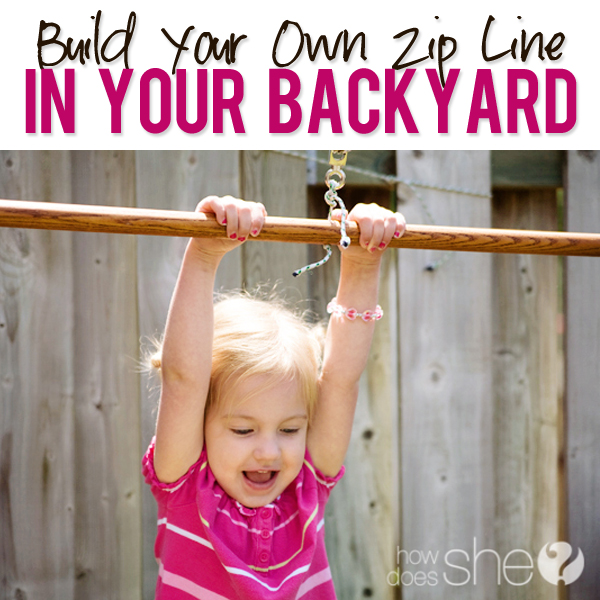 Build Your Own Zip Line in your Backyard