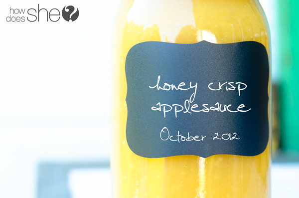 Sweetly Tart Honey Crisp applesauce