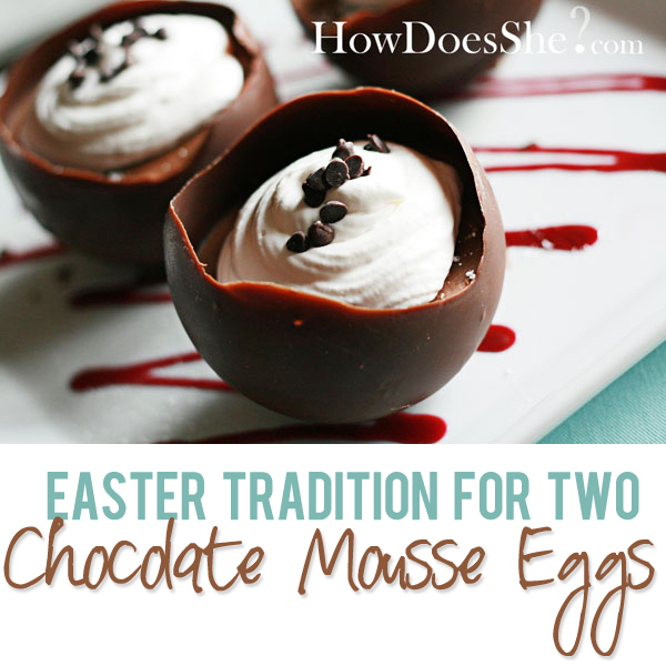 Chocolate Mousse Easter Egg For Two