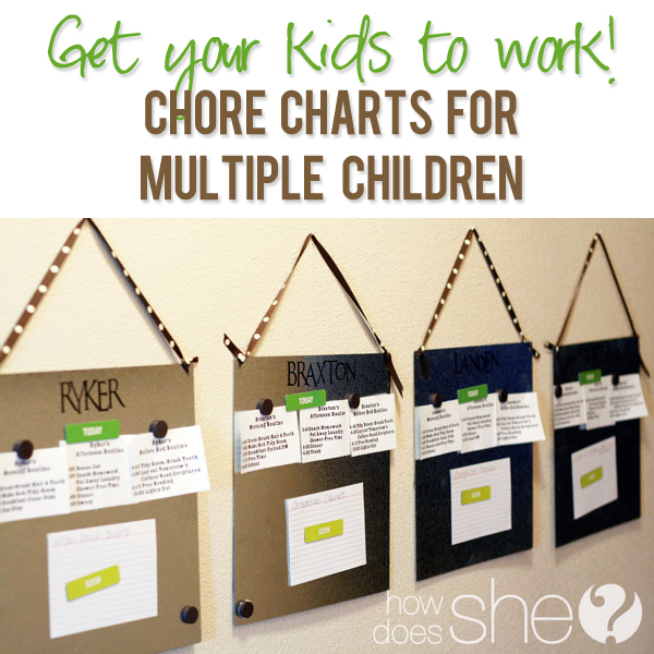 Chore charts for multiple children