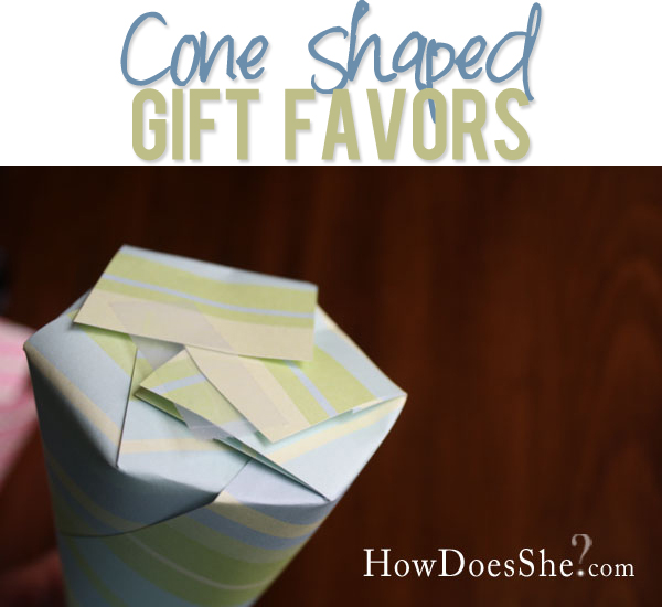 Cone Shaped Gift Favors