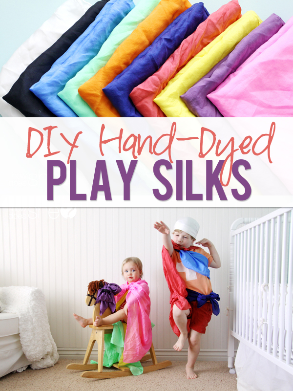 DIY Hand Dyed Play silks