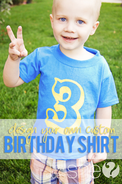 Design Your Own Custom Birthday Shirt