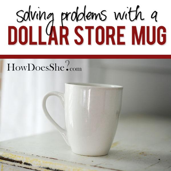 Dollar Store Mug Transformation