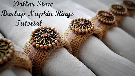 Dollar store napkin rings
