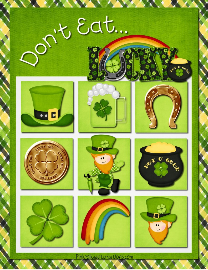 free St. Patricks day printables