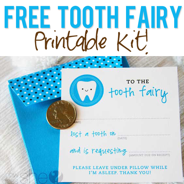 Free Tooth Fairy Printables
