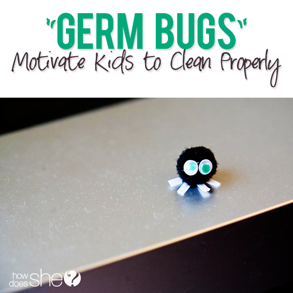 Germ Bugs Motivate Kids to Clean Properly