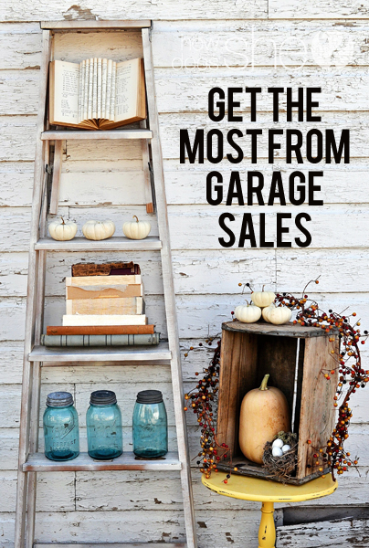 Get the most from garage sales