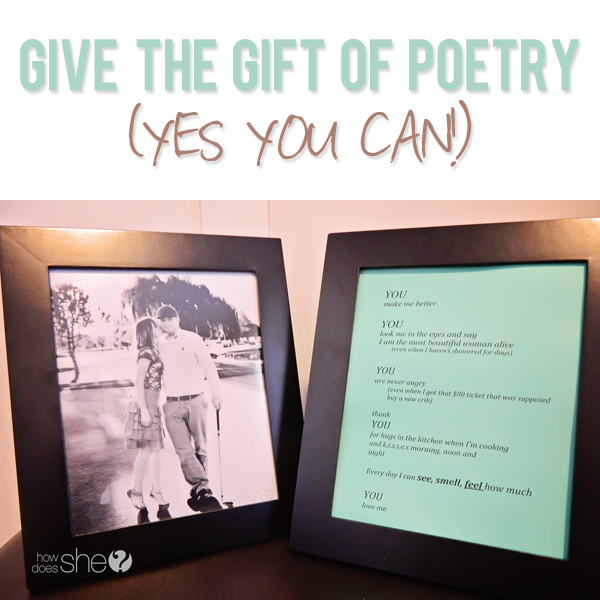 Give the gift of poetry