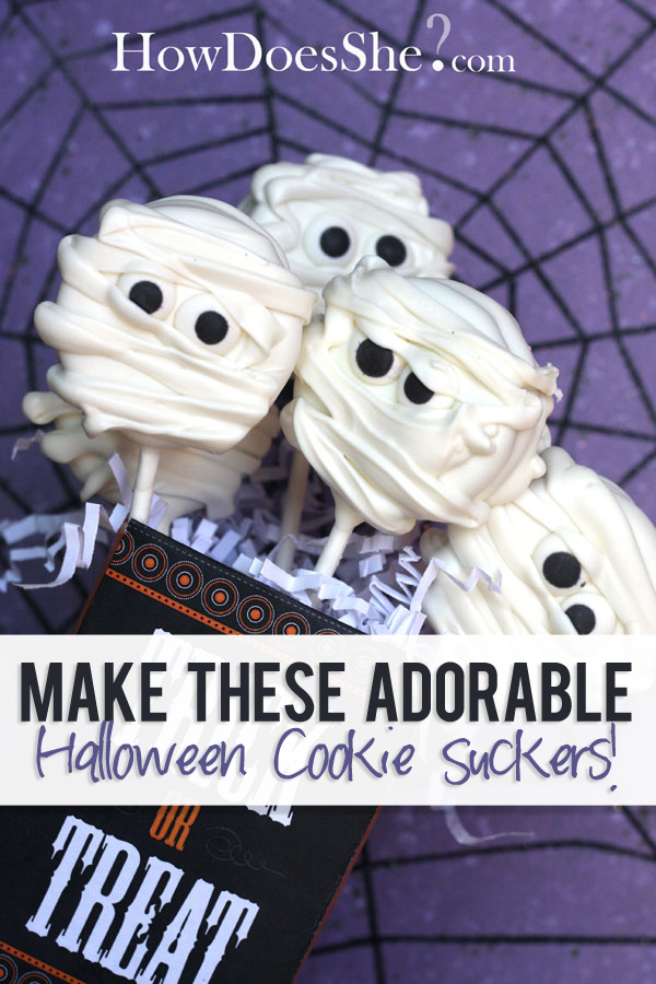 halloween cookie suckers