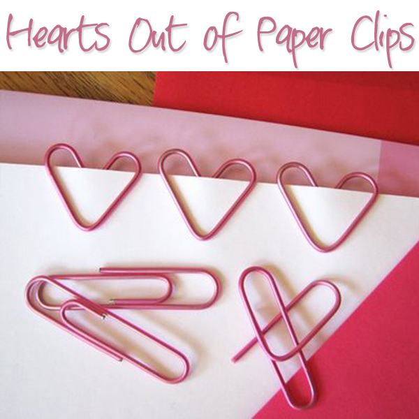 Hearts out of paper clips
