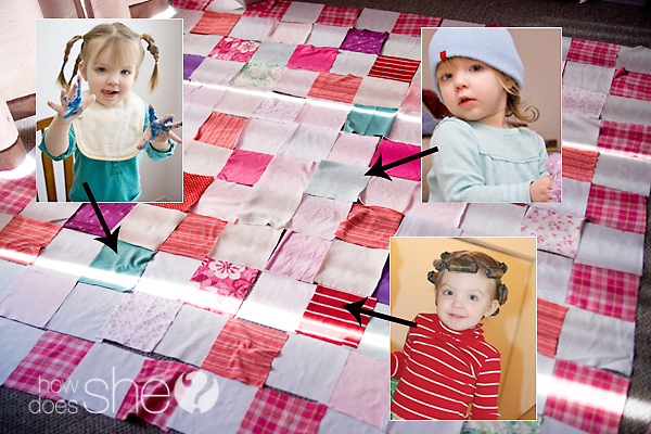 Make a Memory Quilt  from  Old Clothes