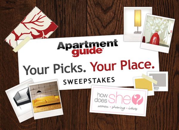 Your Picks. Your Place. -$10,000 Apartment Guide Sweepstakes