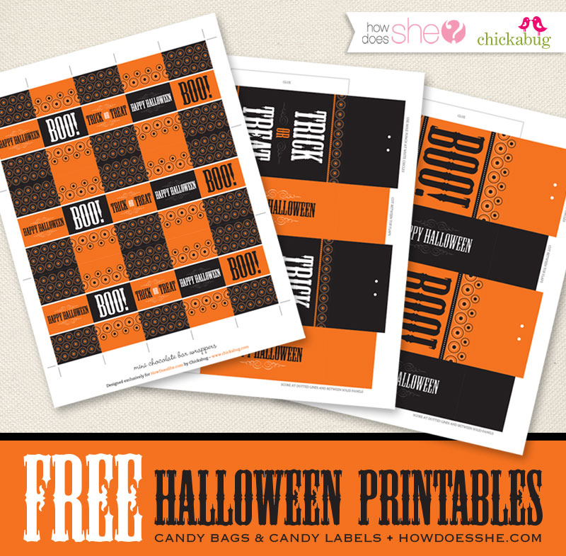 Free Halloween printables at HowDoesShe.com