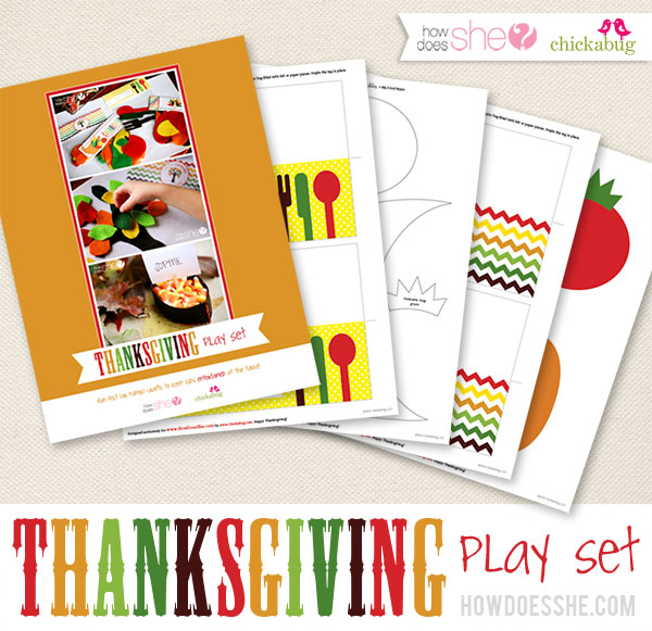 Thanksgiving printable play set