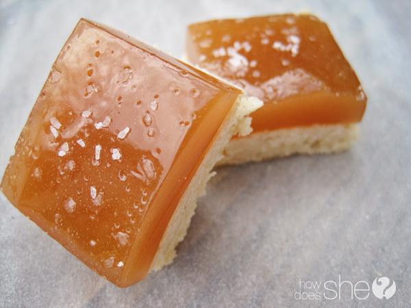 Salted Caramel shortbread Squares