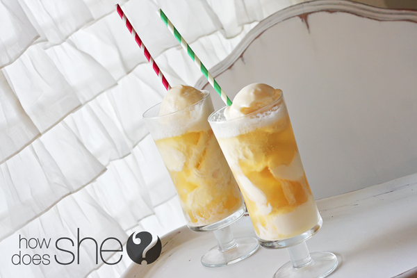 Apple Pie ice cream floats