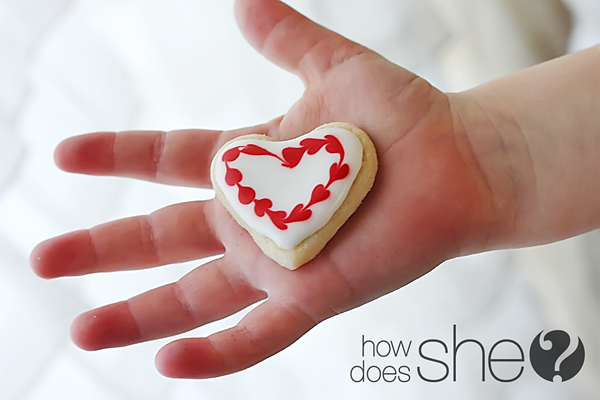 marbled heart cookies