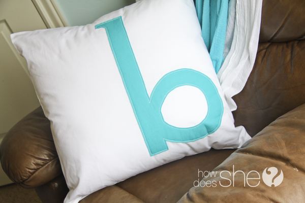 Simple Monogram Pillow - How Does She