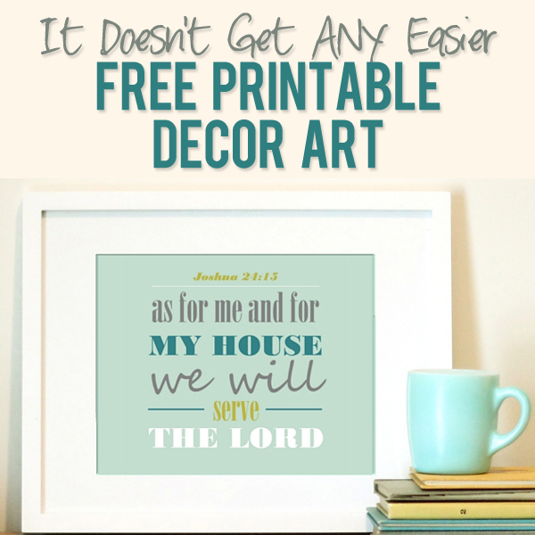 FREE Printable Decor Art