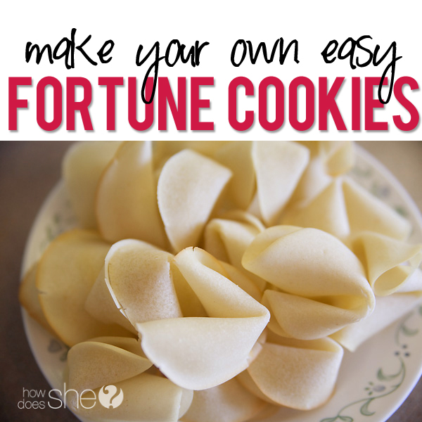 Make Your Own Fortune Cookies