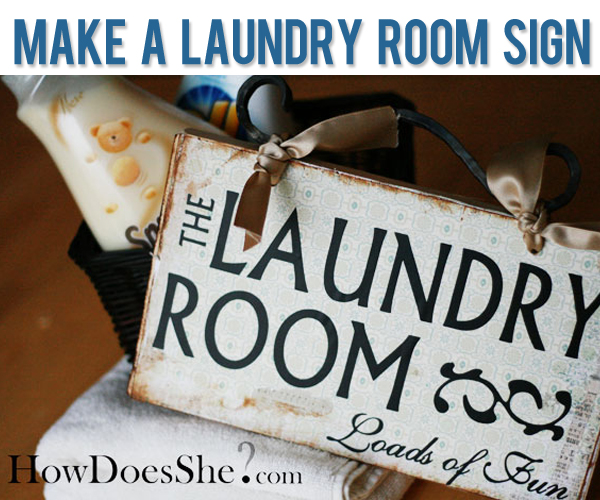 Make a Laundry Room Sign