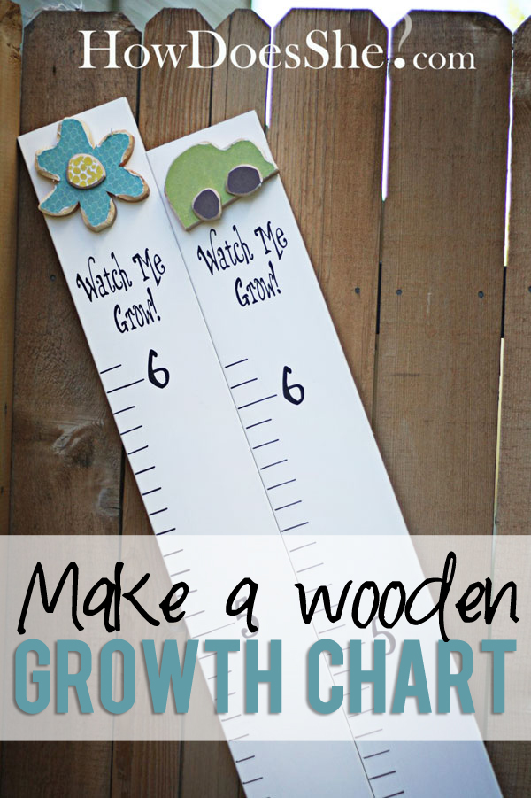 Make a wooden growth chart