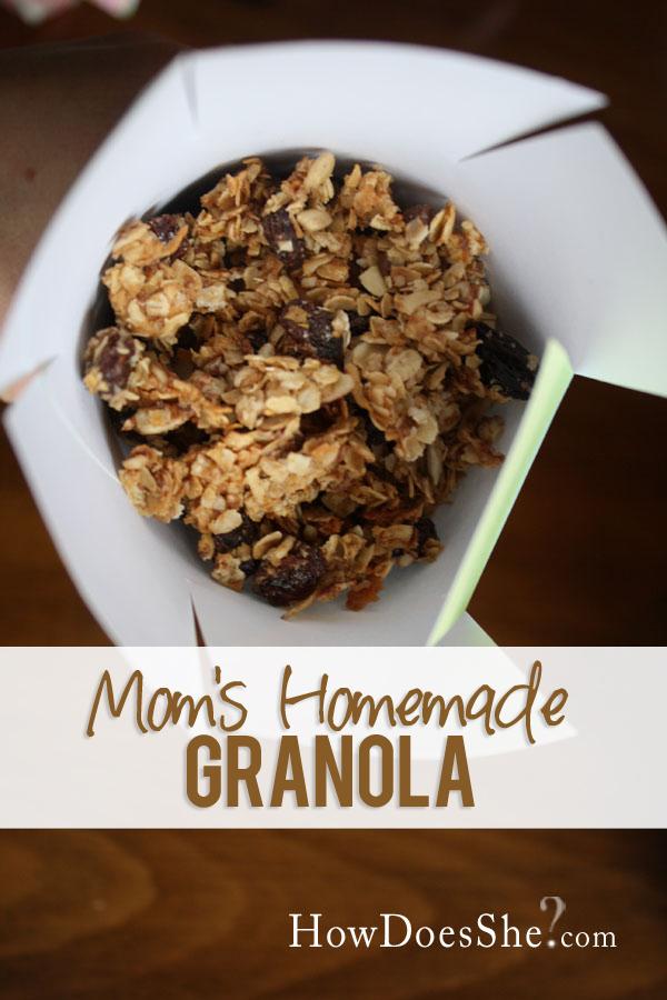 Moms Homemade Granola