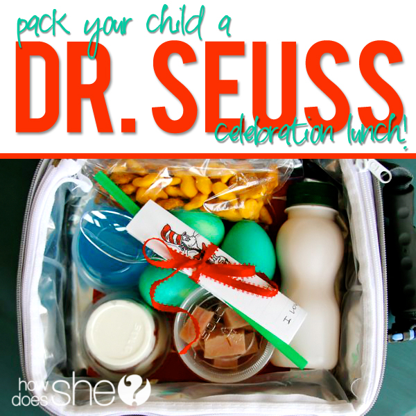Pack a Dr Seuss Celebration Lunch