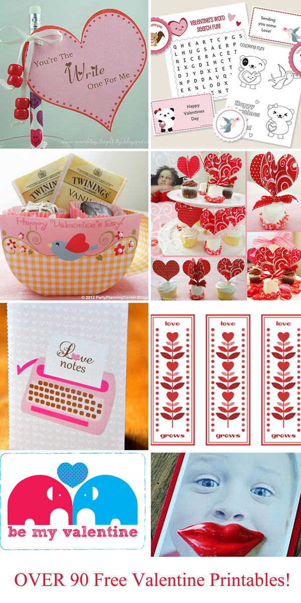 Printable Valentine's collage copy