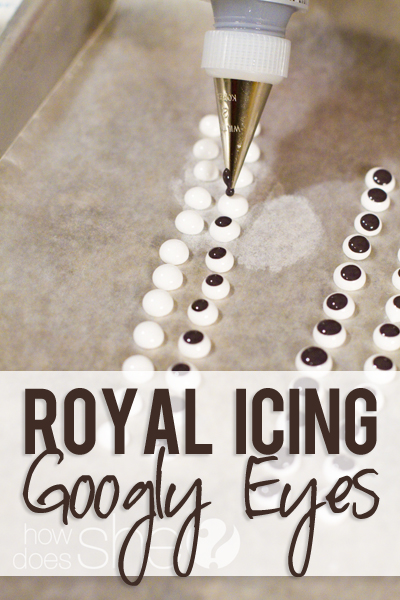 Royal Icing Googly Eyes