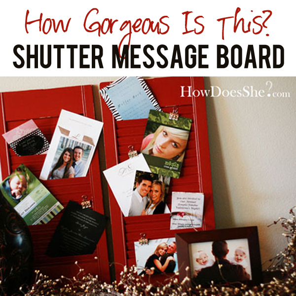 Shutter Message Board