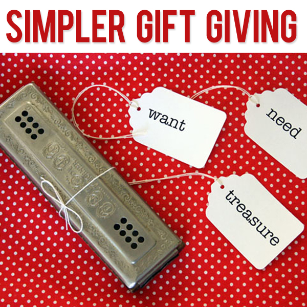 Simpler Gift Giving