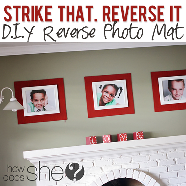 Strike that REVERSE IT diy reverse mat
