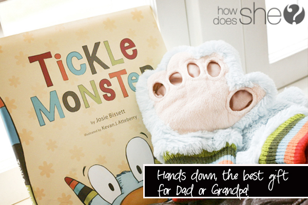 tickle monster book and hands