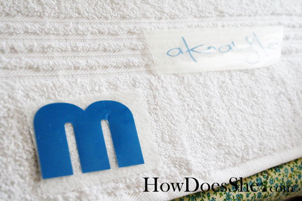 personalize your bath towels
