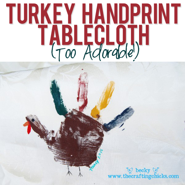 Turkey handprint Tablecloth