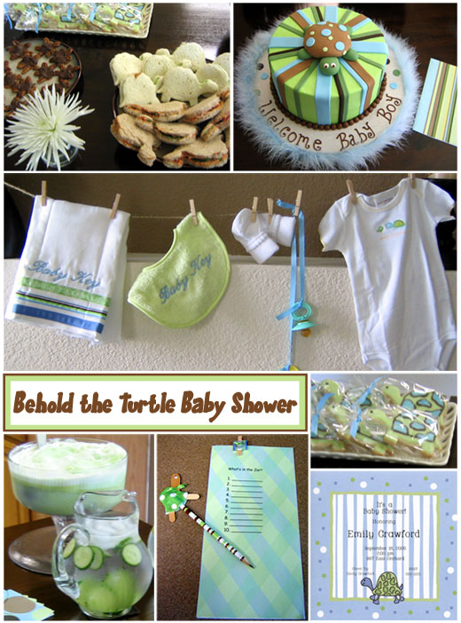 Carrie from TheCakeBlog threw this amazing Turtle themed Baby Shower.