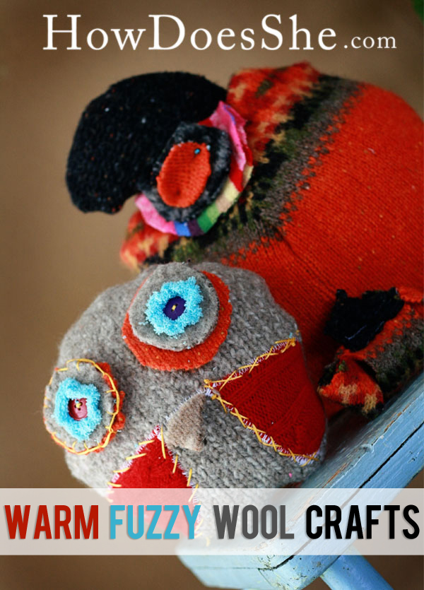 Warm Fuzzy Wool crafts