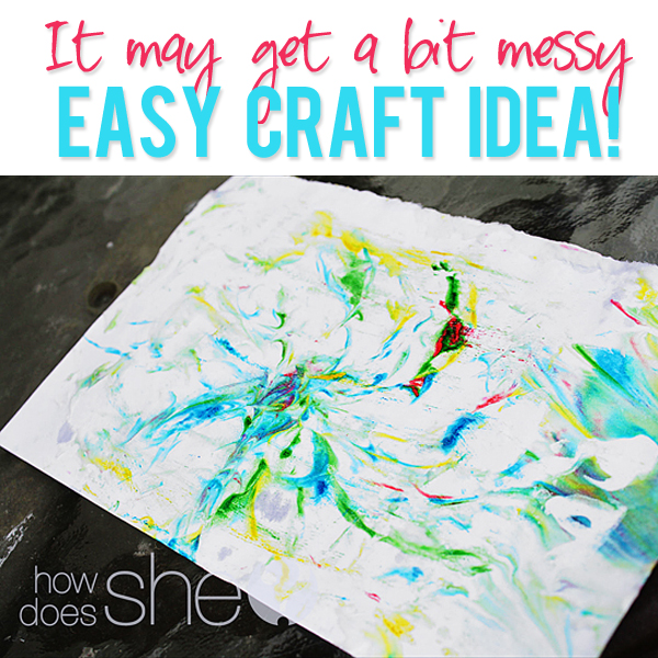 Watch out It may get a bit messy Easy Craft Idea