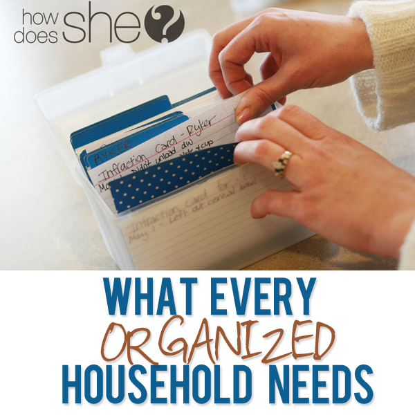 What every organized house needs