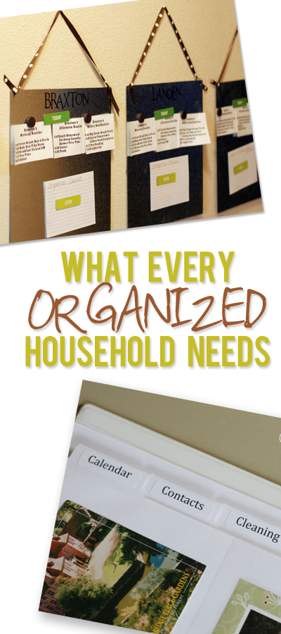 What every organized household needs