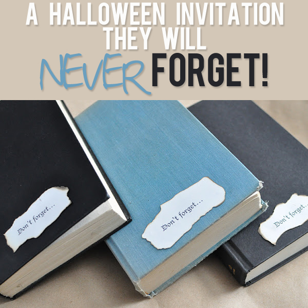 a Halloween invitation