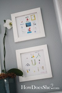 way to display kids art