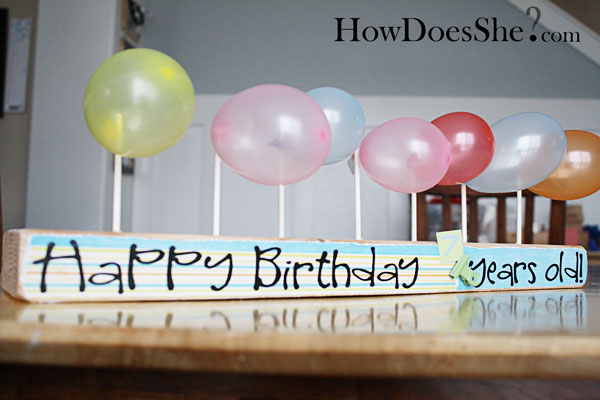 2×4 to Birthday Board{{tutorial}}