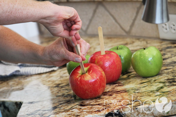 carmel apples white chocolate