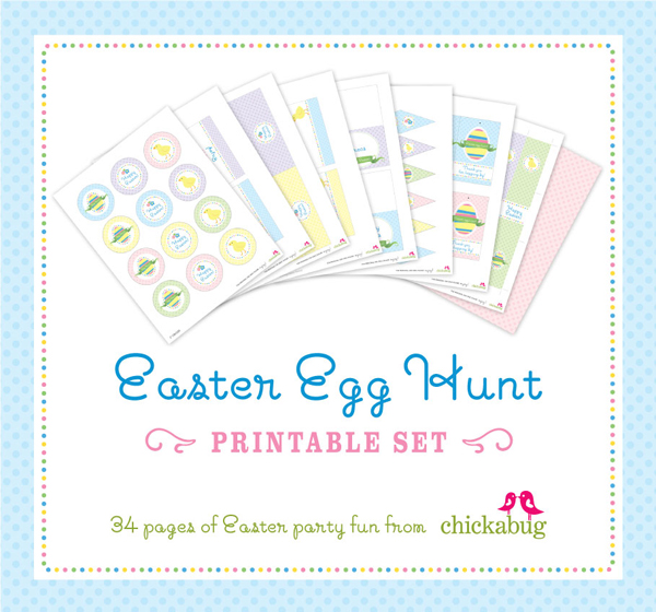 Printable easter egg hunt kit