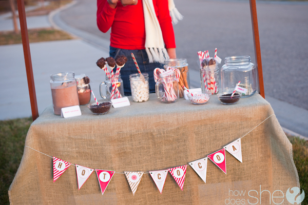 hot cocoa stand for charity