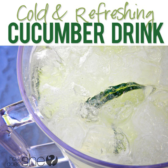 cold and refreshing cucumber drink